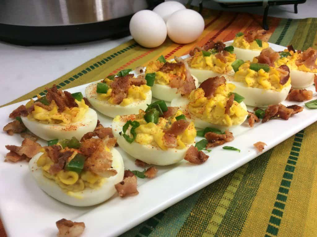 Instant Pot Bacon Deviled Eggs