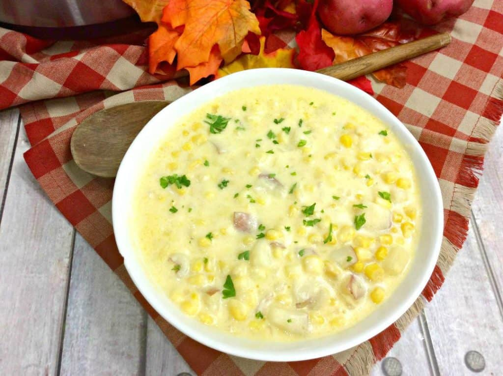 Hearty Instant Pot Corn Chowder