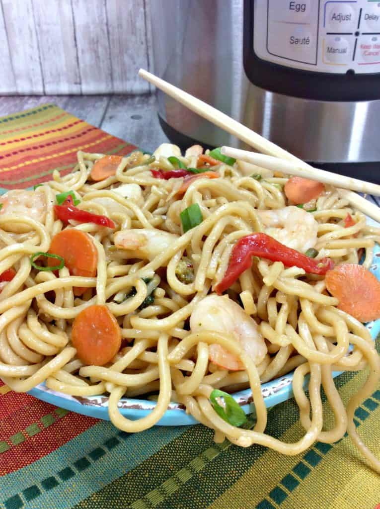Shrimp Lo Mein Made in the Instant Pot