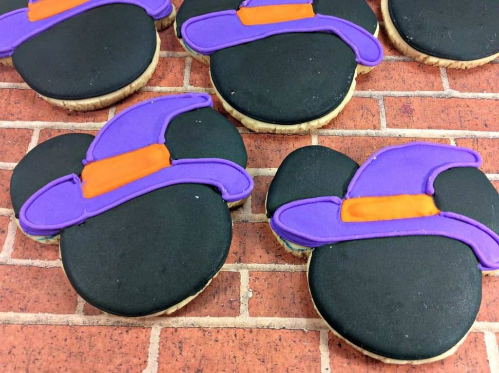 Seasonal Mickey Mouse Witch Sugar Cookies