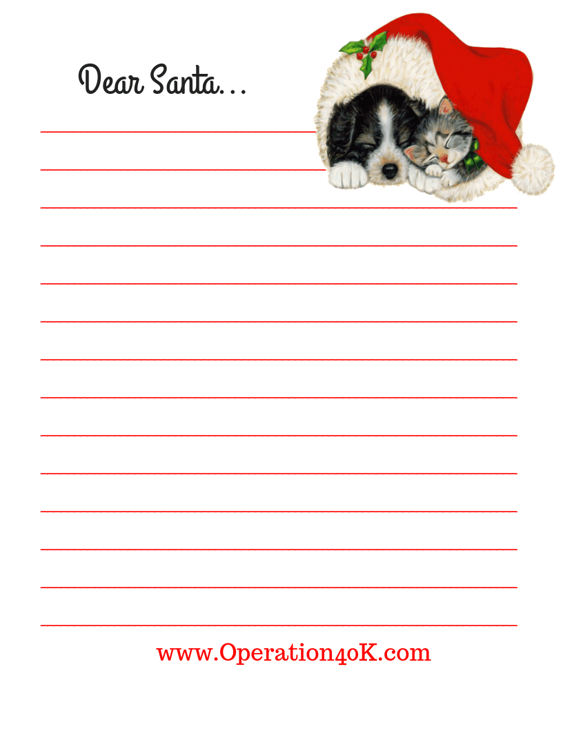 photograph relating to Dear Santa Printable named Expensive Santa; A Totally free Printable Letter - Medical procedures $40K
