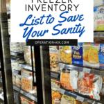 how to create a freezer inventory list social media photo