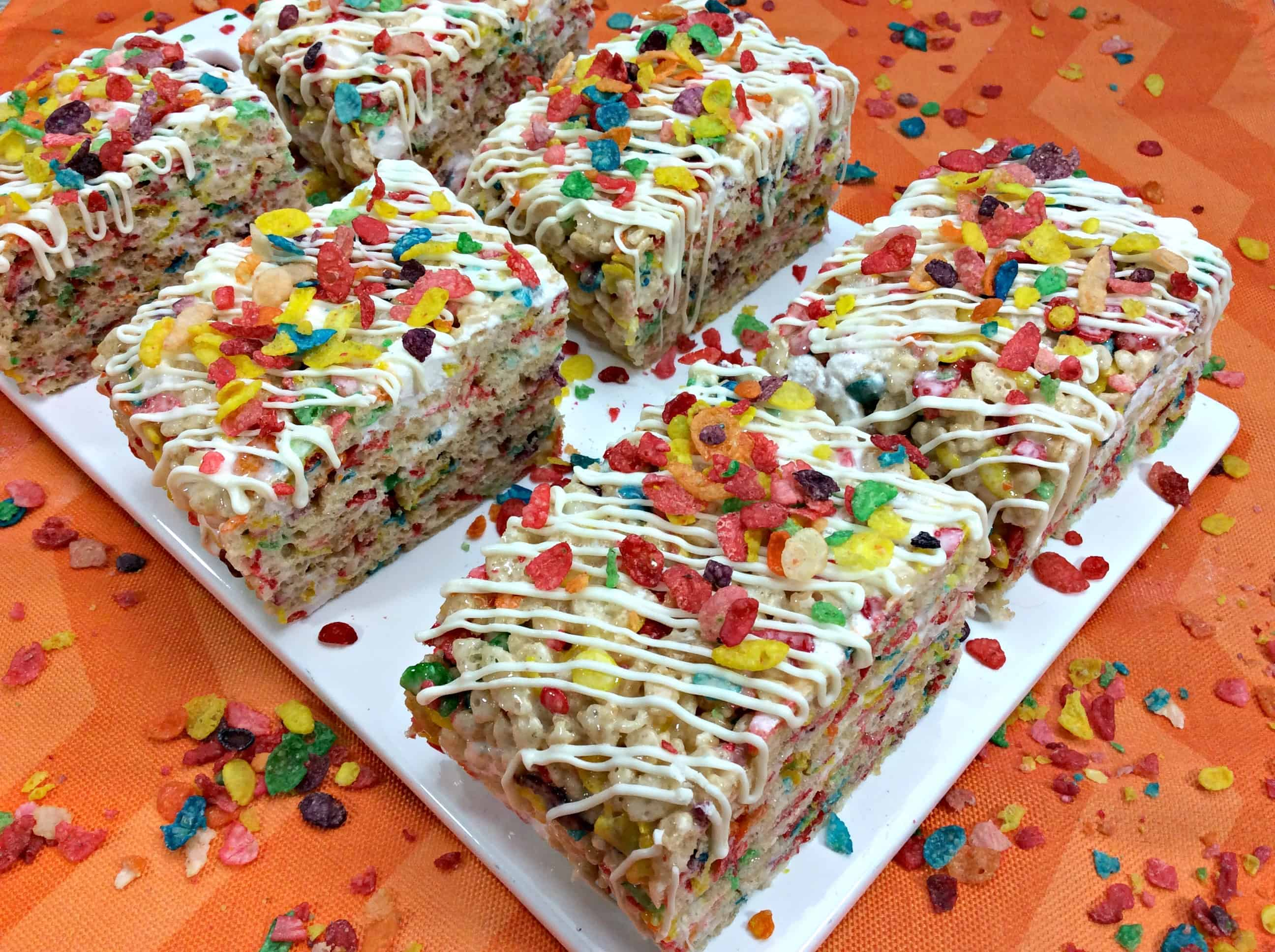Whimsical Fruity Pebbles Rice Krispies Treats