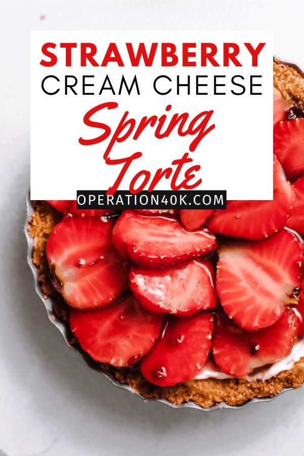 Strawberry Cream Cheese Torte