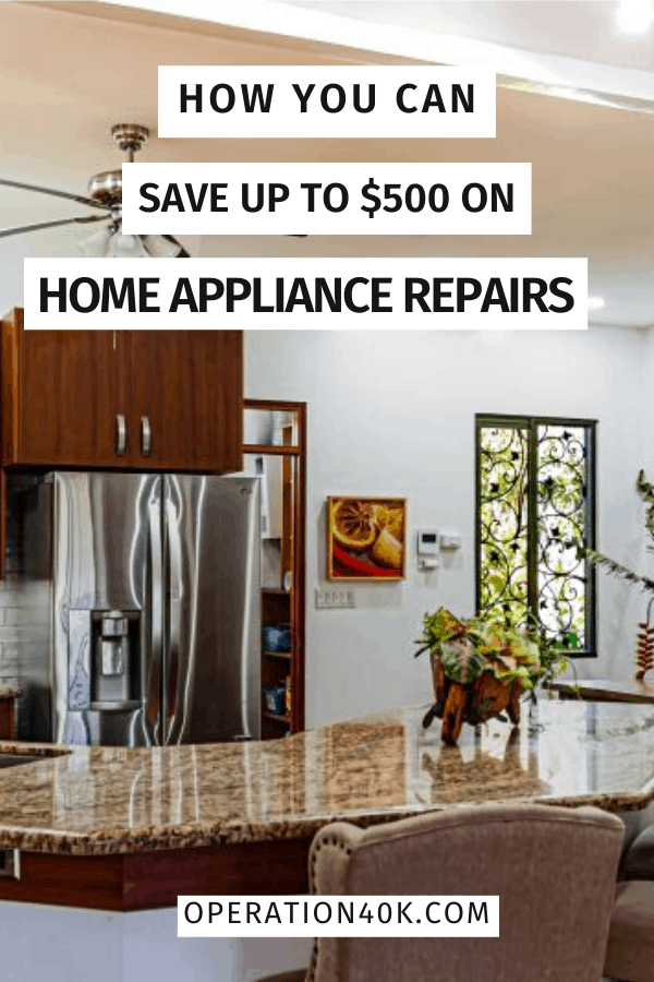 How You Can Save Up To $500 On Home Appliance Repairs