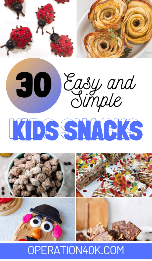 Easy and Simple Kids Snacks Recipes To Make
