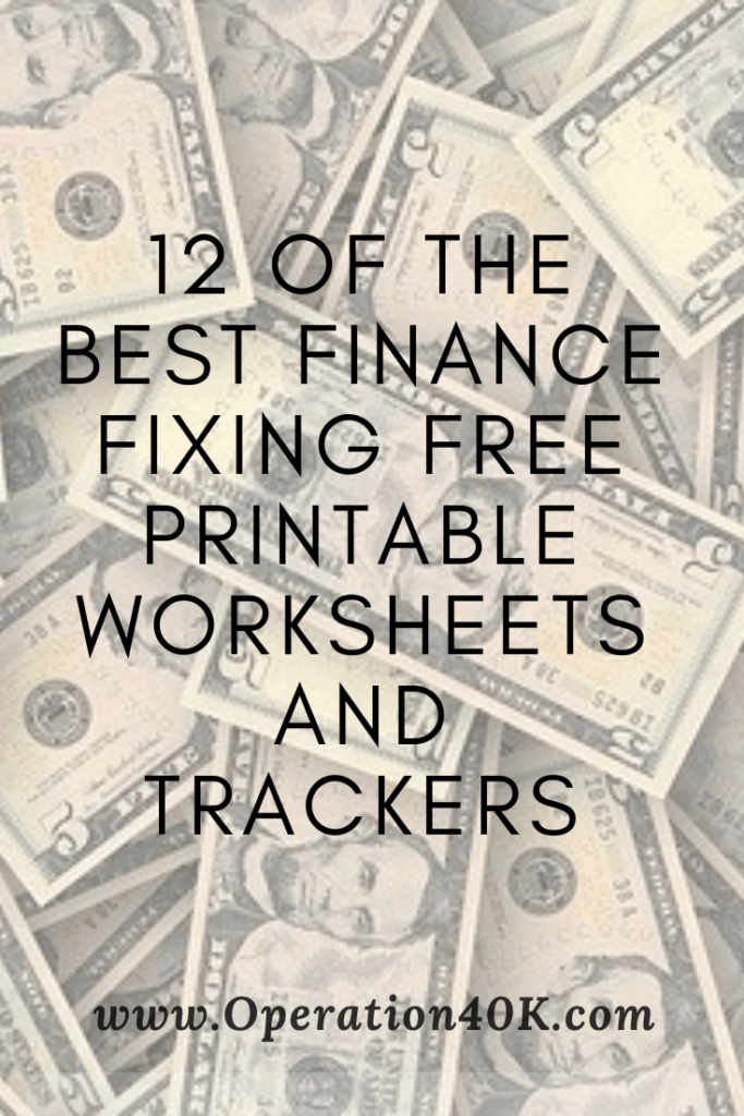 12 Finance Fixing Free Printables