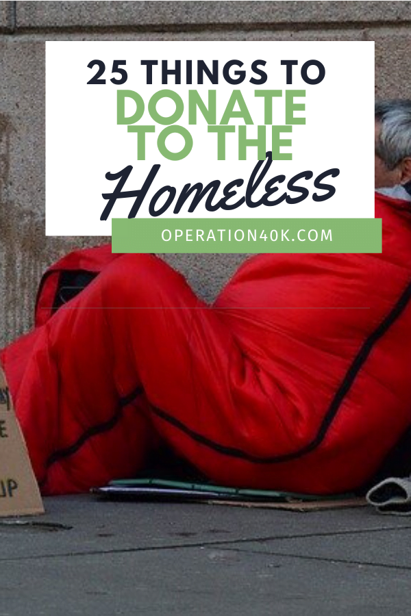 25 Things To Donate To Homeless Shelters This Winter