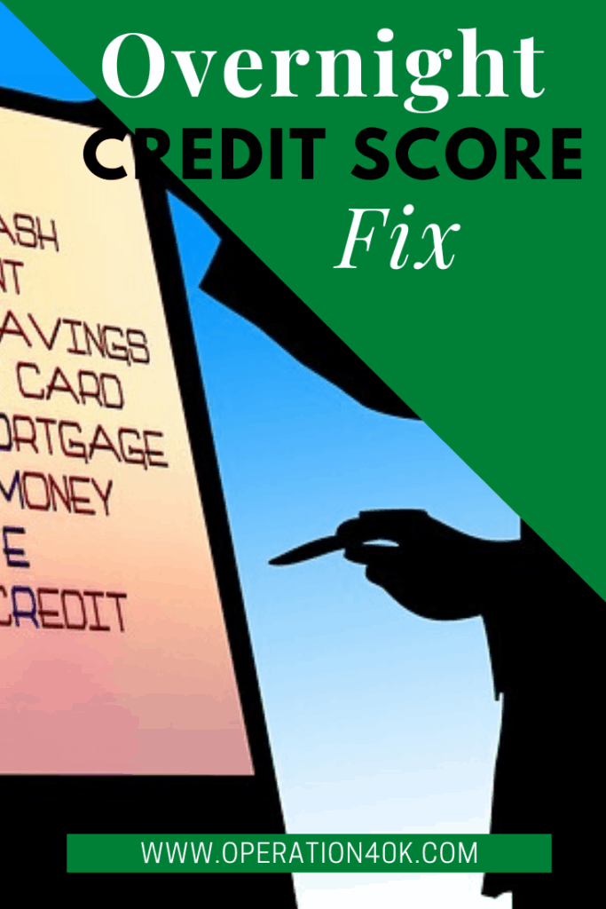 How You Can Boost Credit Score Overnight