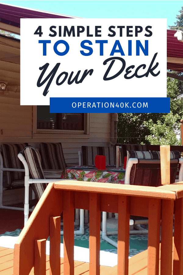 Refinish Your Deck in 4 Easy Steps