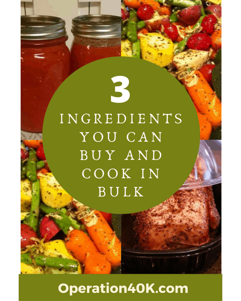 3 Ingredients You Can Buy and Cook in Bulk