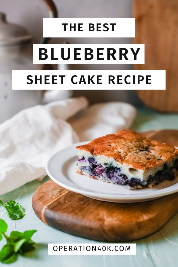 The Best Blueberry Sheet Cake That is Whole30 Friendly