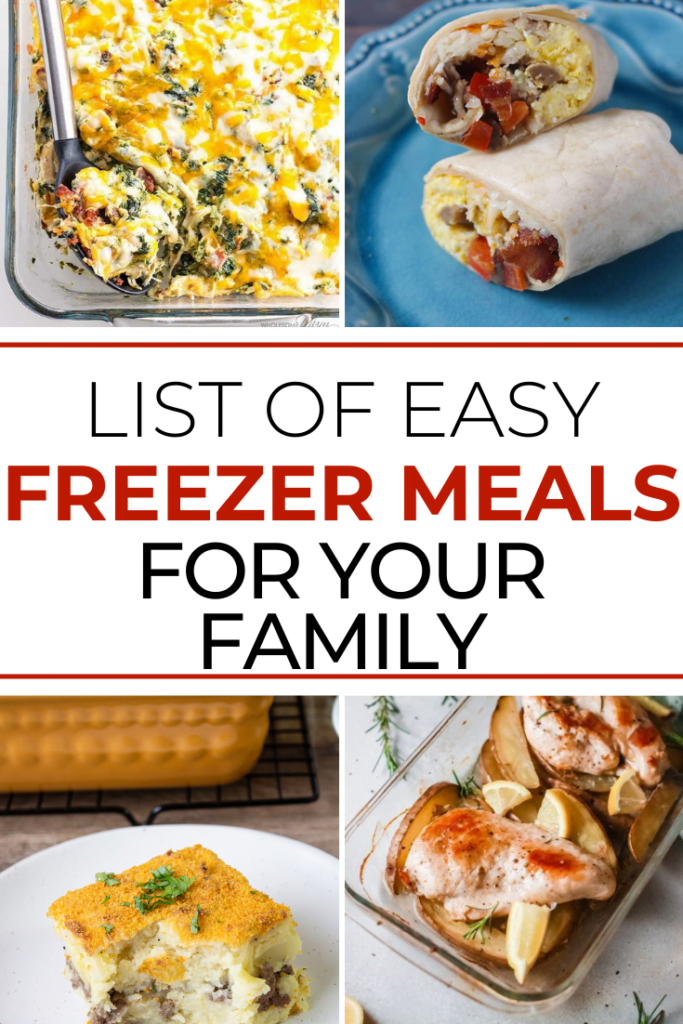 The Best List of Easy Freezer Meals for Your Family