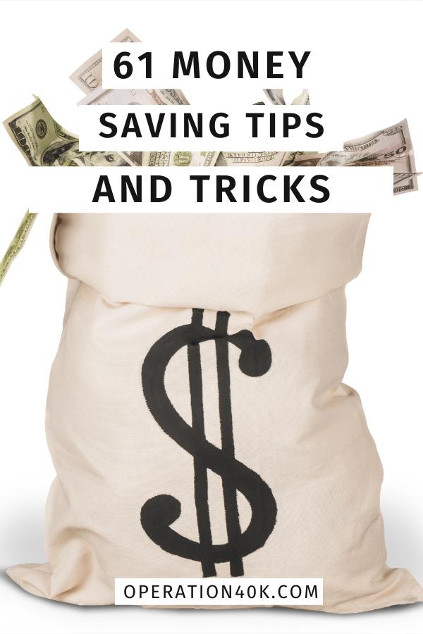 61 Ultimate Money Saving Tips List