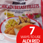 7 Ways to Use Aldi Red Bag Chicken article cover image with red bag of chicken on it
