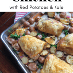 The best herb roasted chicken with Red Potatoes & Kale recipe article cover image