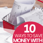10 Ways to Save Money with Receipts receipts in a shopping cart
