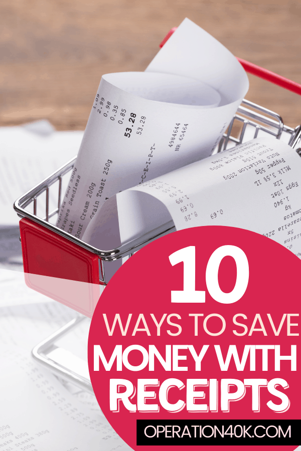 10 Ways to Save Money with Receipts