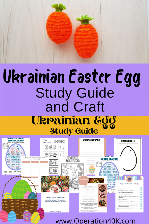 Ukrainian Easter Egg Study Guide and Craft