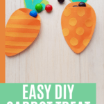 Easy DIY Carrot Treat Bag Paper Craft Project picture of two carrot bags