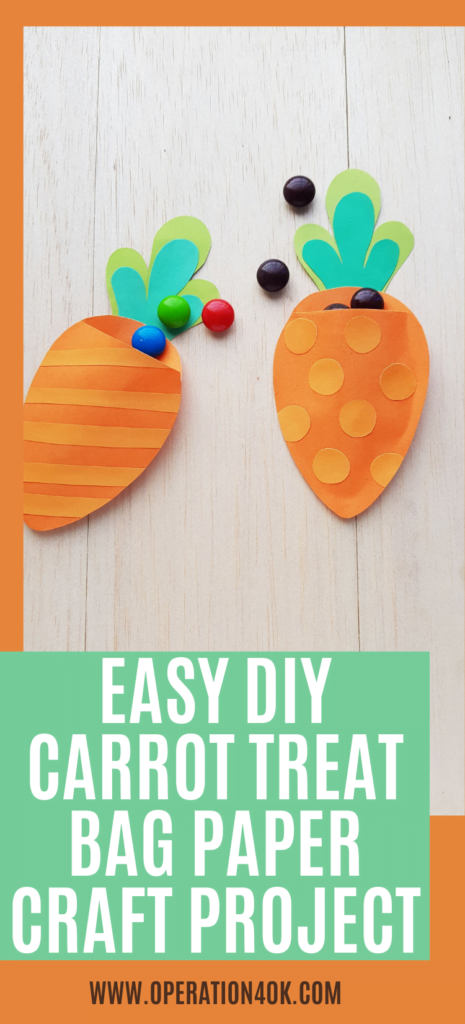 Easy DIY Carrot Treat Bag Paper Craft Project