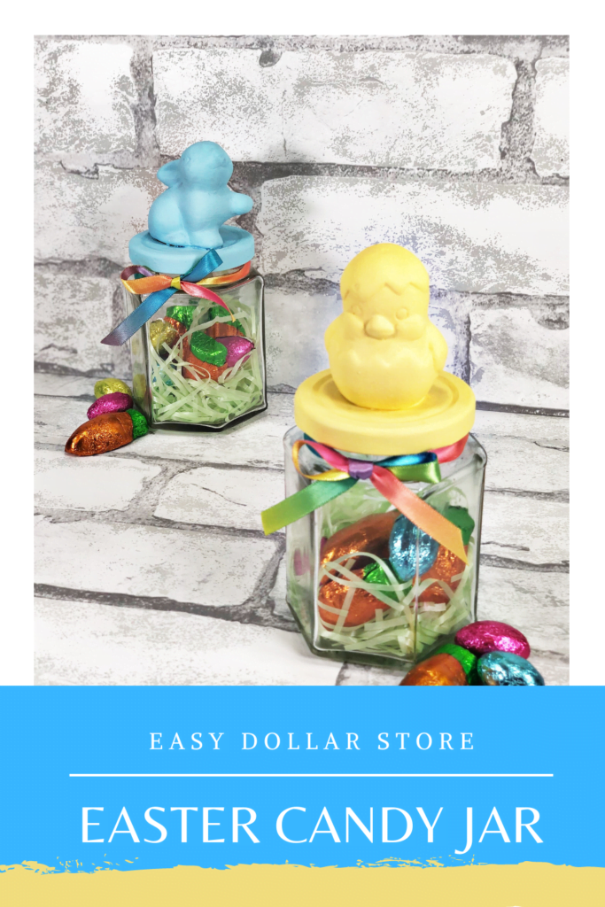Easy Dollar Store Easter Candy Jar Craft