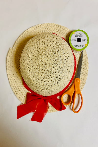 items needed to make a sun hat basket