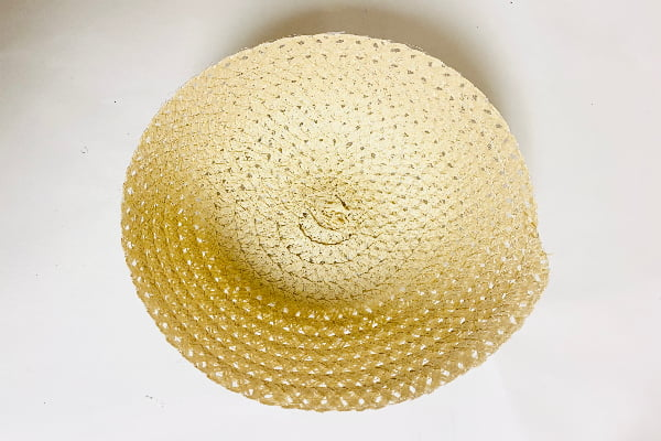 dome of a sun hat for a basket