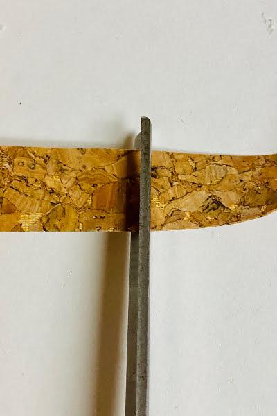 cutting cork ribbon