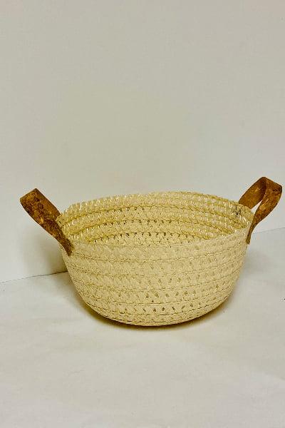 finished sun hat basket