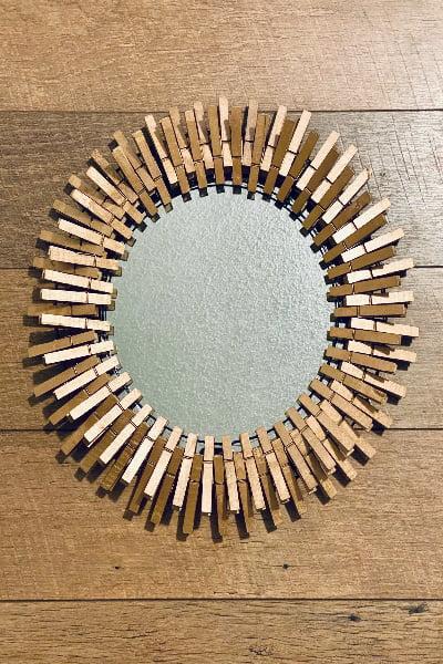 Copper Clothespin DIY Mirror Frame: A Dollar Tree Craft