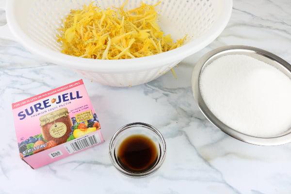 Homemade honeysuckle jelly