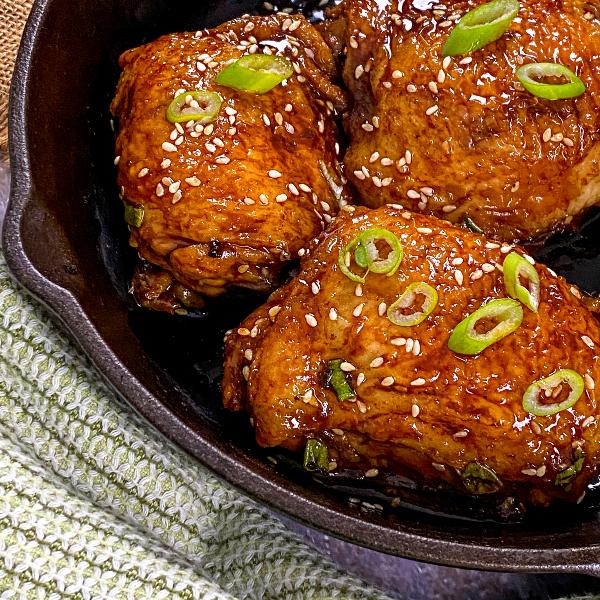 chicken thighs recipe cast iron