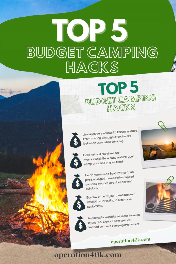 savem money camping