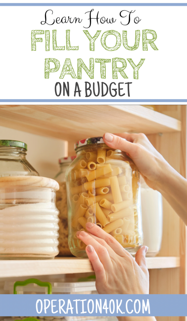 how to fill your pantry on a budget