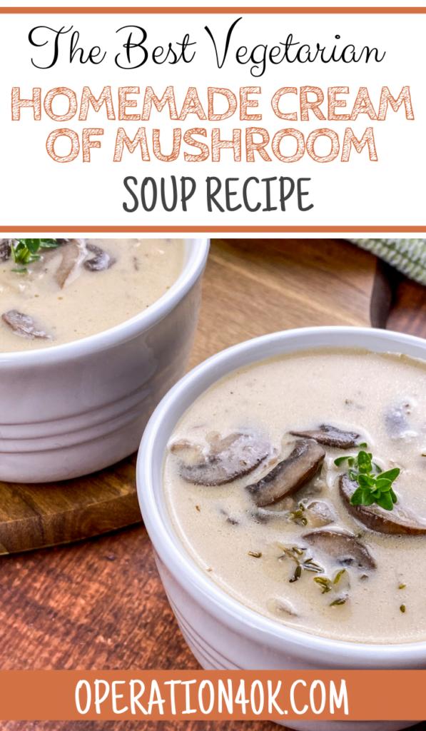 The Best Vegetarian Homemade Cream of Mushroom Soup Recipe