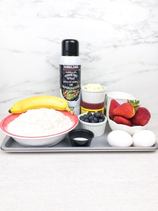 Sheet Pan Pancakes Ingredients: