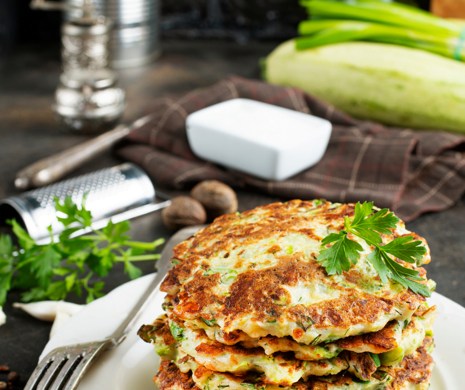 how to make golden zucchini pancakes